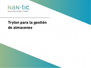 Mobile Apps for warehouse management with Tryton (Spanish)