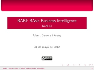 BaBI - Basic Business Intelligence (Spanish)