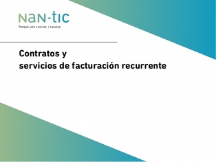 Contracts and recurring billing services (Spanish)