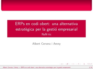 Open Source ERP: a strategic alternative for managing business (Catalan)