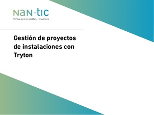 Installations project management with Tryton (Spanish)
