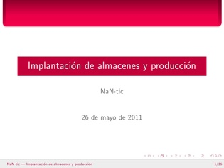 Implementation of warehouse and production (Spanish)